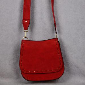 Galian New York Red Crossbody Leather Bag